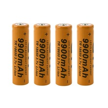 New 4 pcs/set 18650 battery 3.7V 9900mAh rechargeable liion battery for Led flashlight batery litio battery  Wholesale(China (Mainland))