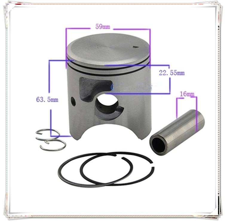 Motorcycle Engine Parts 25 Cylinder Bore Size 64 25mm: Online Buy Wholesale 59mm Piston From China 59mm Piston