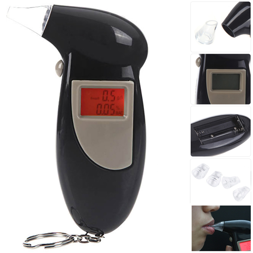 MQ-3 Quick Response Professional LCD Alcohol Tester Digital Alcohol Detector Breathalyzer Police Alcotester Backlight Display(China (Mainland))