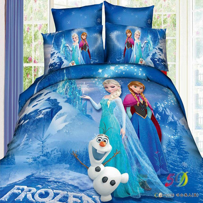 Good Quailty Kids bed set Promotion Brand Bedding Sets Elsa Anna Quilt Cover Bed line set Twin/Full/Queen/King Kids Bedding(China (Mainland))