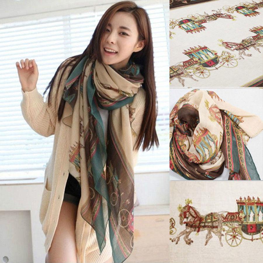 Fashion Women Lady Girls Soft Long Carriage Scarf Large Wrap Shawl Scarves New(China (Mainland))