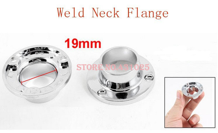 19mm Inner Dia 40mm OD Zinc Alloy Clothes Lever Socket Pipe Weld Neck Flange 6pcs(China (Mainland))