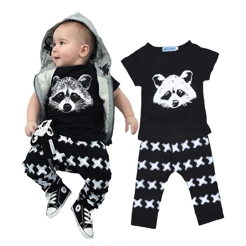 Bobo choses Baby clothing set Ailurus fulgens T-shirt + pant cross baby boy clothing sets newborn baby girl clothes wholesale<br><br>Aliexpress