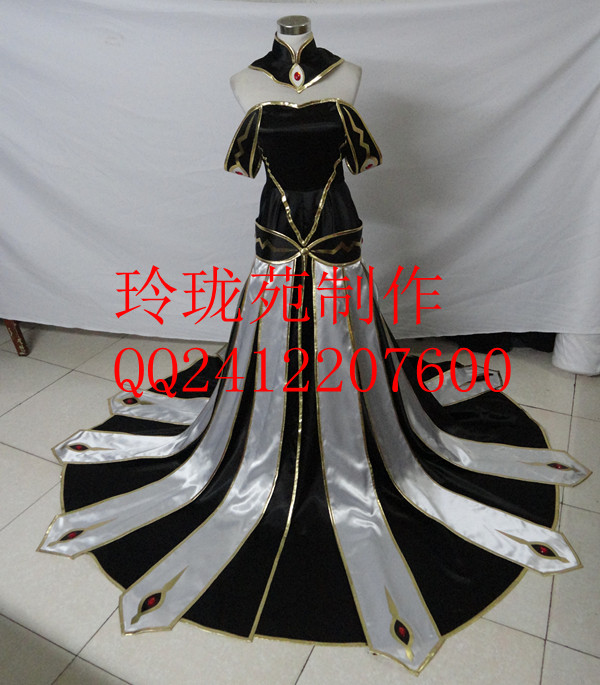 Code Geass TOMO Prepa C C Lelouch of the Rebellion CC Queen Cosplay Costume black and