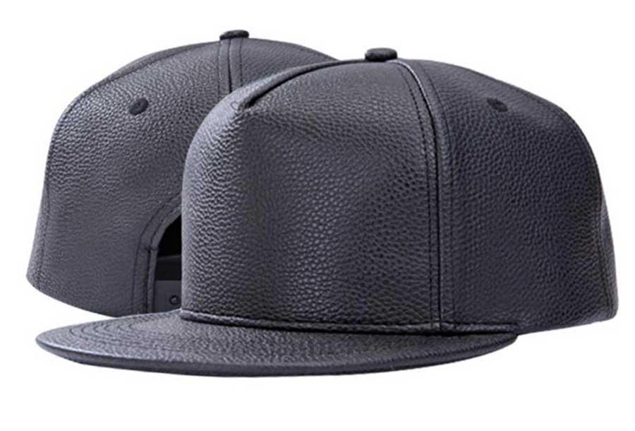 Wholesale Best Black PU Leather Flat Brim Hip Pop Hat Mens Fall Winter Blank Snapbacks Caps Buy Bulk Men Adjustable Baseball Cap(China (Mainland))