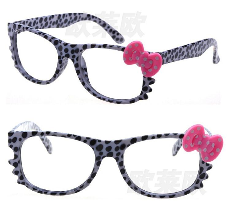 sweet cartoon eyewear children fashion girl lovely leopard ...