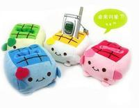 Plush cell phone holder anti-rattle thickening tofu baby cell phone holder