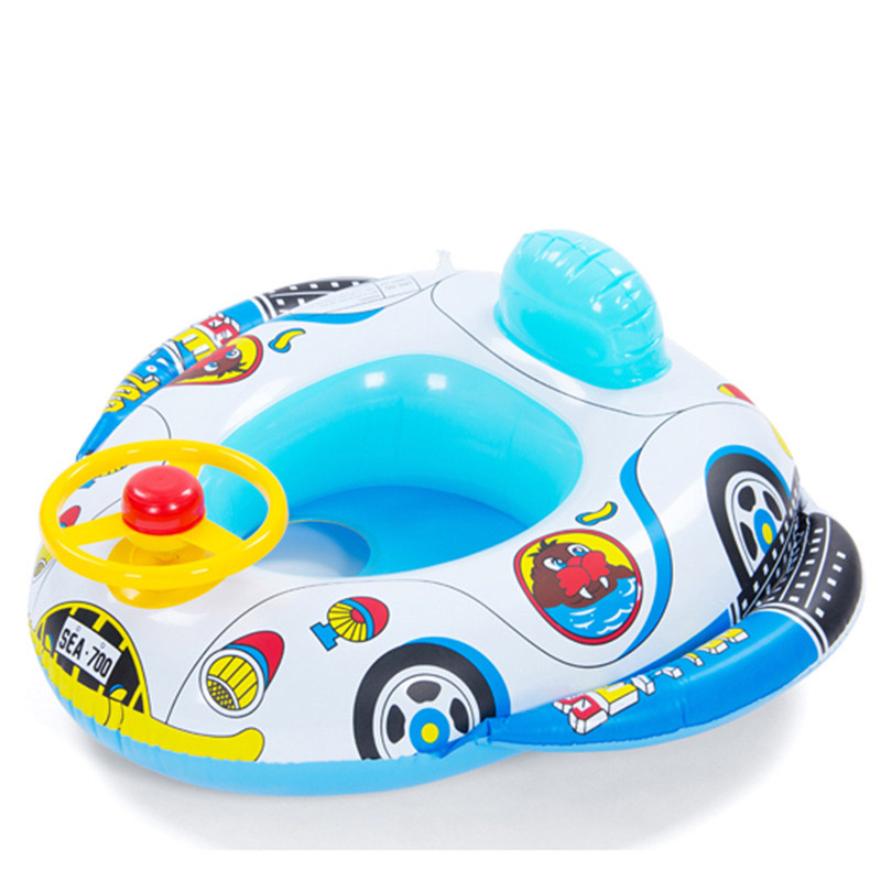 2016 Cartoon Children Baby Swimming Pool Swim Seat Ring Float For 0-2 Years Rattle inside,Fire Rescue, Patrol Boat(China (Mainland))