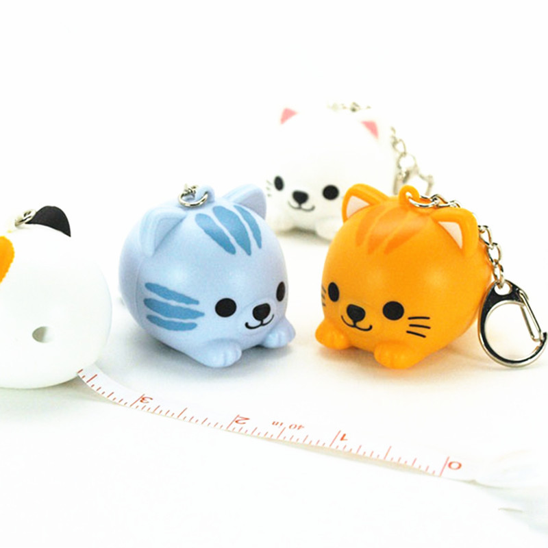 Free Shipping 20pcs/lot New Arrival Cartoon Lovely Cat Tape Measure 100cm 40 inch Tap Measure Creative Portable Measure<br><br>Aliexpress