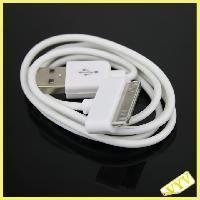 White USB Data Charger Cable Wire Cord for iPhone iPod