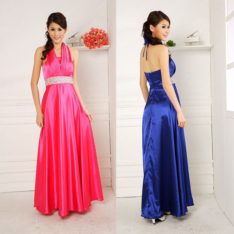 Long blue champagne rose gold purple maxi evening dresses for Purple maxi dresses for weddings