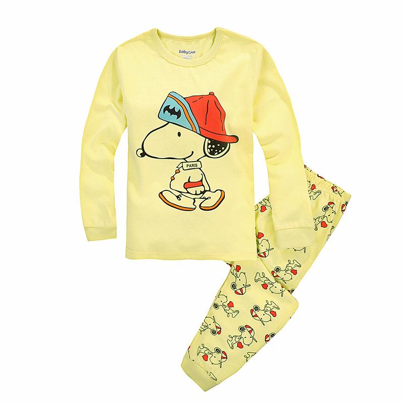 2015 Dog Print Kids Pajama Sets  Baby Girl Sleepwear Long Sleeve+pants Boys Clothes Sets Pijamas De Inverno Infantil<br><br>Aliexpress