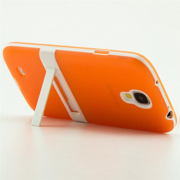 matte luxury silicone tpu case samsung galaxy s4 i9500 i9505 i9506 i9515 lafleur back cover holder stand - March_e-store store