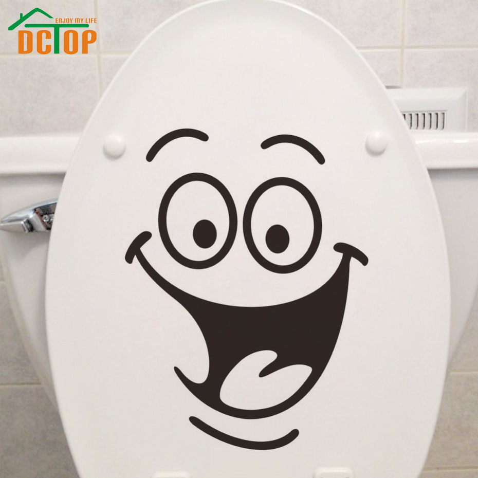 dctop emoticons stickers funny toilet sticker vinyl. Black Bedroom Furniture Sets. Home Design Ideas