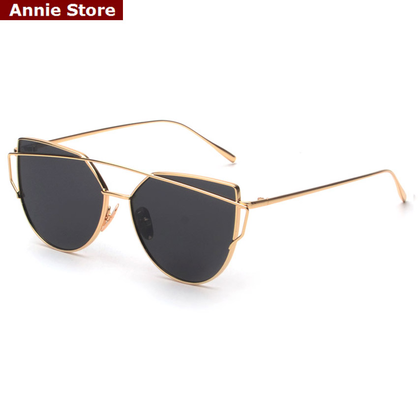 Brand design new luxury womens sunglasses 2016 metal wrap cat eye sunglasses pink mirror top quality party summer style UV 400(China (Mainland))
