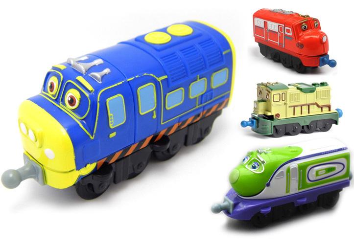 Chuggington Diecast Train Metal Magnetic Locomotive Alloy Model Kids Toy Classical Four Combination Children's Toys 4PCS(China (Mainland))