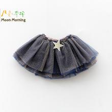 Moon Morning Girls Skirt Summer Star Fantasia Kids Tutu Brand Design Children Clothes Ballet 2T~10T Flower Costumes