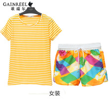 Song Riel fashion outer wear striped pajamas men and women couple leisure suits Pyjamas comfort sweet