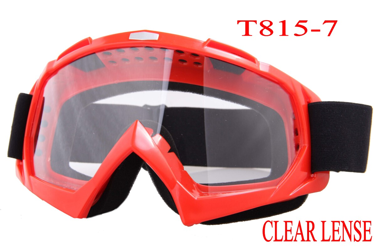 2015 Top Fashion Special Offer Skiing In Stock Ski Snowboard Snowmobile Motorcycle Goggles Off-road Eyewear Orange&clear T815-7(China (Mainland))