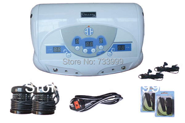 Free shipping DHL fast delivery 2 Person Foot Spa Machine With MP3 player Ion Cleanser Detox Machine Dual Detox Foot Spa Machine(China (Mainland))