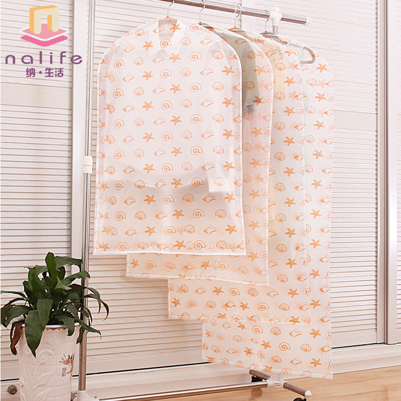 Clothing sets transparent clothing thickening dust cover clothes dustproof bags water wash garment overcoat cover(China (Mainland))