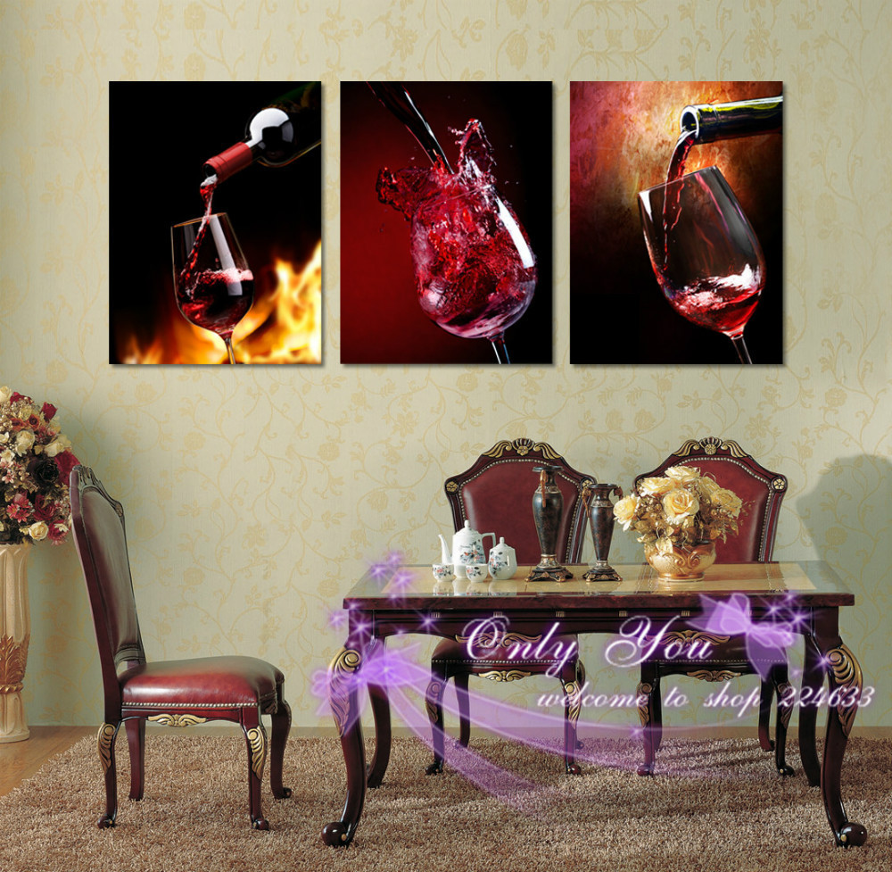 Home Decor Picture Contemporary Wine Glass Art Canvas Prints Picture Living Room Dining Room Painting Vintage Wine Glass Poster(China (Mainland))