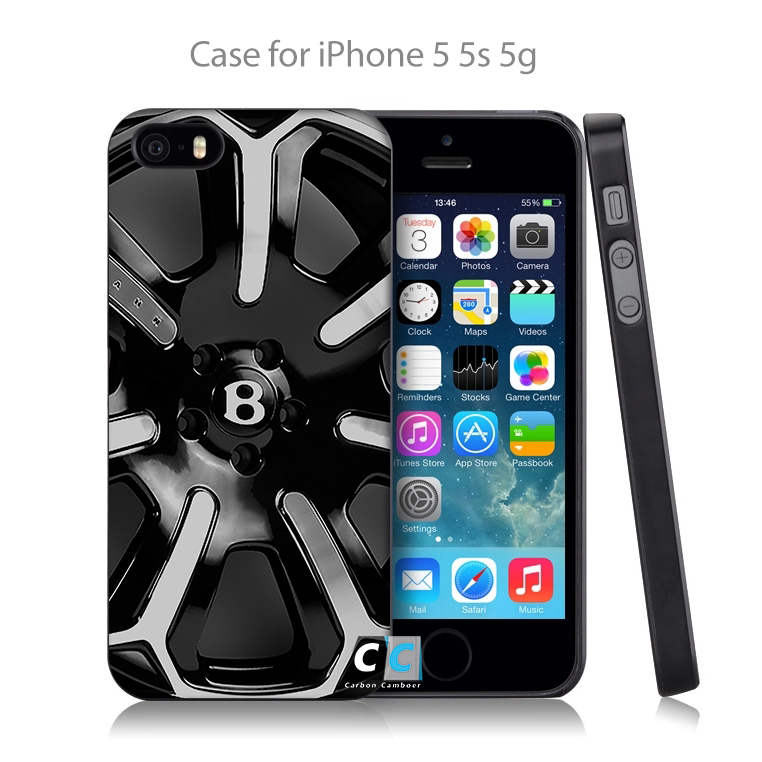 Logo For Bentley Wheel kahn silver mist Hard Black Skin Case Cover for iPhone 4 4s 4g 5 5s 5g 5c 6 6s 6 Plus Free Shipping(China (Mainland))