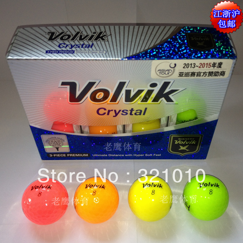 free shipping Fashion and New Import Volvik golf ball ,multi-color ball(China (Mainland))