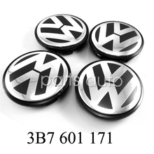 4x For Volkswagen VW Wheel Center Hub 65mm Caps Cover Badge Emblem 3B7 601 171  VW GOLF JETTA MK5 PASSAT B6 CC GTI(China (Mainland))