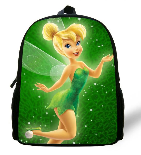 12-дюйм дети мешок девушки тинкер белл сумка школа печать причинно-бич дети рюкзак ...