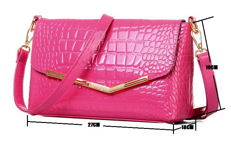 Europe cowhide leather style Simple Trend Handbags Alligator Messenger bag Shoulder Bags Bat Pack pink classic several colors