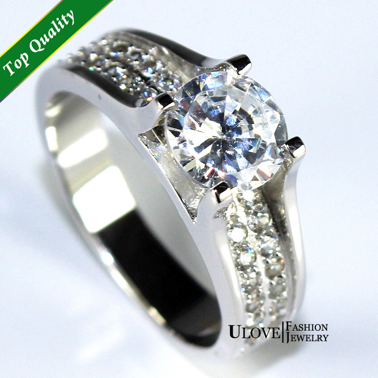 Aliexpresscom buy crystal ring simulated diamond for Wedding rings for sale online