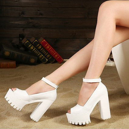 2016 летние туфли на платформе сандалии высокой пятки сексуальные дамы толстые каблуки ...