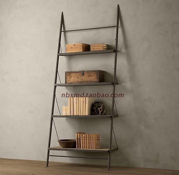 loft trapecio mueble tv americana estantera muebles de hierro hecha of madera maciza mash edad soporte de la tv estante en mesas de bar de muebles en