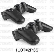 2 PCS Black Wireless Bluetooth Game Controller Joysticks Gamepads For PS3 Console(China (Mainland))