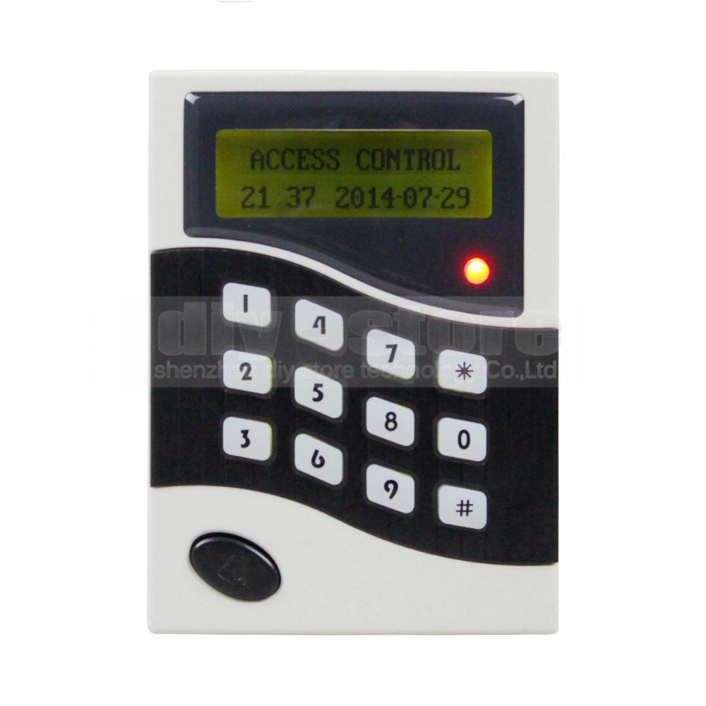 Lcd  RFID Keypad ID Card Reader Door Access Control Keypads + 10 Free ID Key Fobs B100<br><br>Aliexpress