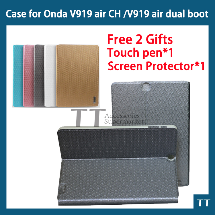 High quality PU case for new v919 3g air dual boot V989 AIR Octa core V919