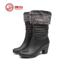 New 2016 Sweet Women Rain Boots Warm Snow Boots with Fur Bow Women Shoes Decorated Ankle Boots,Free shipping HXL-8013(China (Mainland))
