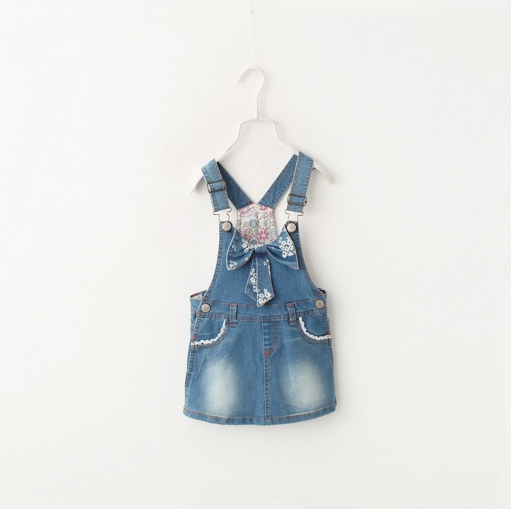Hug Me Baby Girls Clothes Lace Tutu Summer Dresses Childrens Sleeveless for Kids Clothing 2016 New  Strap Denim Dress BB-141<br><br>Aliexpress