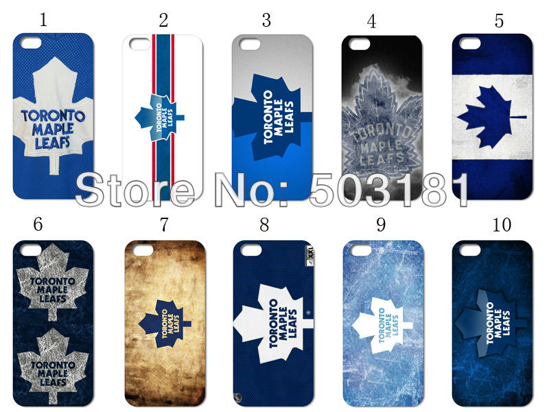 New coming!!wholesale 12pcs/lot Toronto Maple Leafs logo hard back white case cover for iphone 4 4G 4S +free shipping(China (Mainland))