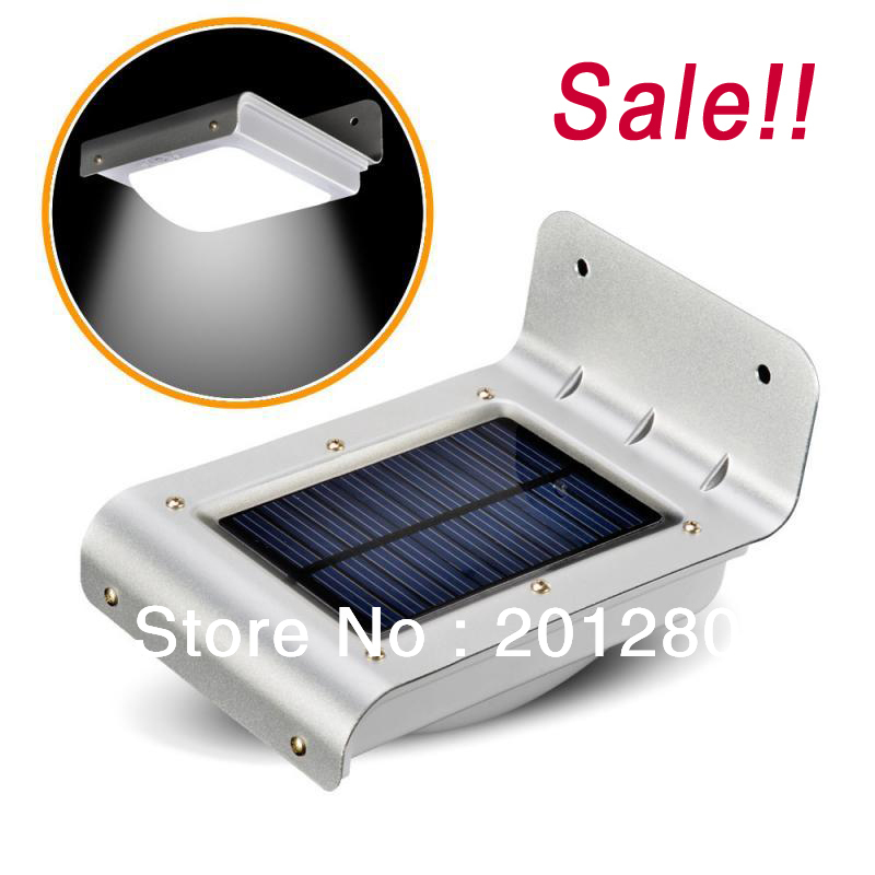 Sale!! Solar Power Sound Sensor Luz 16 LED Luce Decoration Home Outdoor Security Light Wall Licht Park Garden Lamps(China (Mainland))