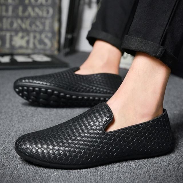 Мужчины обувь 2016 весной новые pu weave повседневная мужская фальц удобные дышащие ...