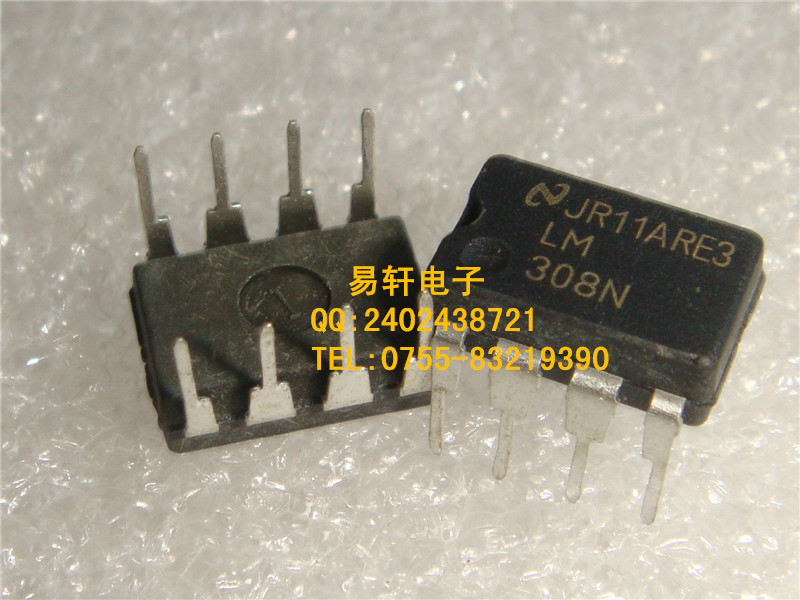 Free shipping 20pcs/lot LM308N LM308 DIP8 Instrumentation, Op Amps new original(China (Mainland))