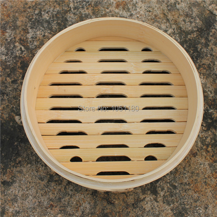 24cm Chinese bamboo steamer Farmers Hand made Dumplings buns bamboo Steamers100% Natural eco-friendly bamboo ware free shipping(China (Mainland))