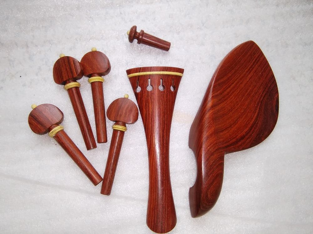 1 Set Advanced Quality Rose wood Fitting 4/4 +fingerboard+tail gut+tuner etc 4/4<br><br>Aliexpress