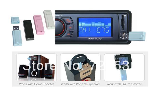 item Bluetooth MUSIC stero ADP USB dongle adapter car speaker connect by smart iphones everywhere