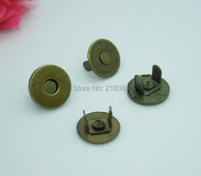 50 sets bronze thin magnetic snaps bag purse clasp metal for Thin magnets for crafts