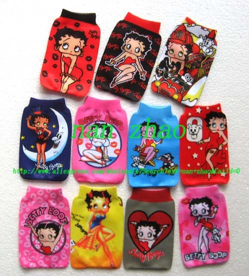 20pcs Betty Boop MOBILE PHONE Holder bag Pouch Sock(China (Mainland))