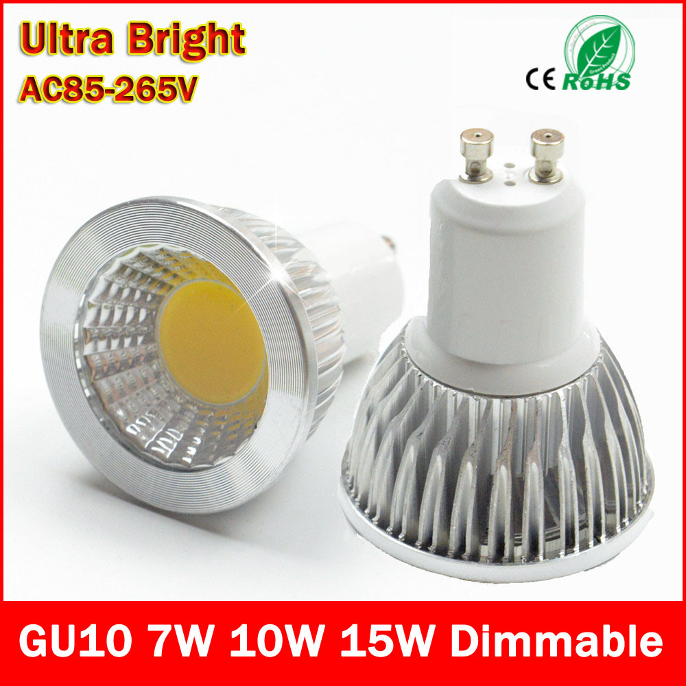 90% off Super Bright GU10 Bulbs Light Dimmable Led Warm/White 85-265V 9W 12W 15W LED GU10 COB LED lamp light GU 10 led Spotlight(China (Mainland))