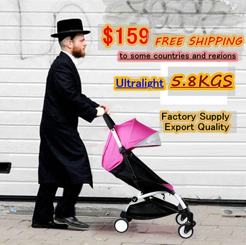 New Folding light Baby Umbrella Stroller Baby Car Kid Buggy Baby Pram Style Like Babyzen YOYO YUYU Yoya,White Frame,5.8kg(China (Mainland))